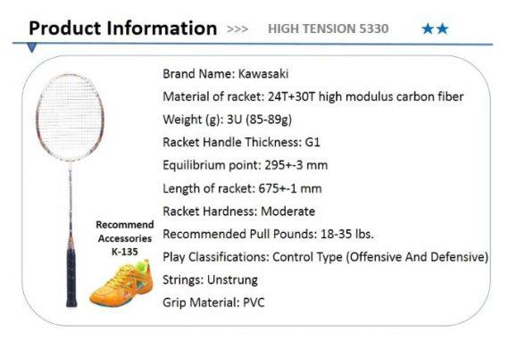 Vợt cầu lông Kawasaki High Tension 5330