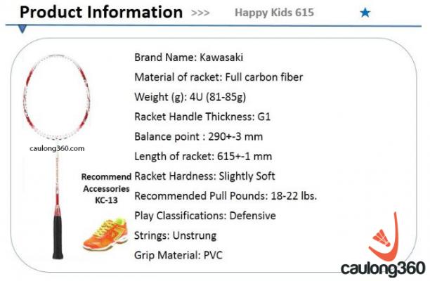 Vợt cầu lông Kawasaki Happy Kids 615