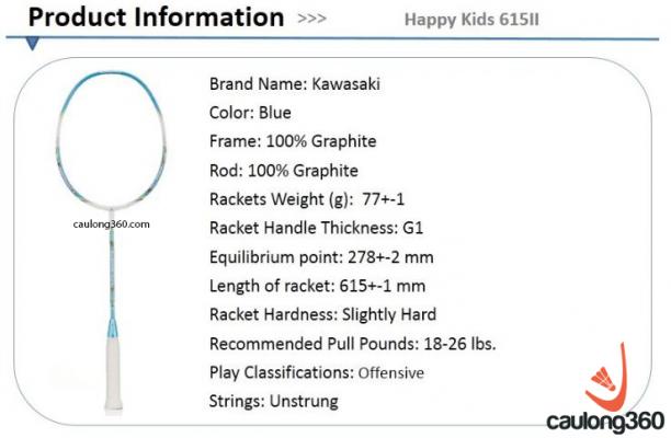 Vợt cầu lông Kawasaki Happy Kids 615II